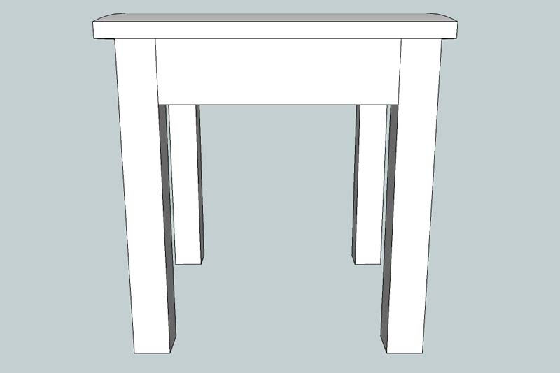 Stool with Beige Pad